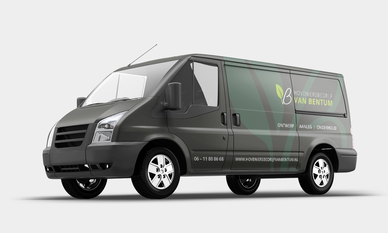 Bus bestickering Hoveniersbedrijf Van Bentum Upgrow