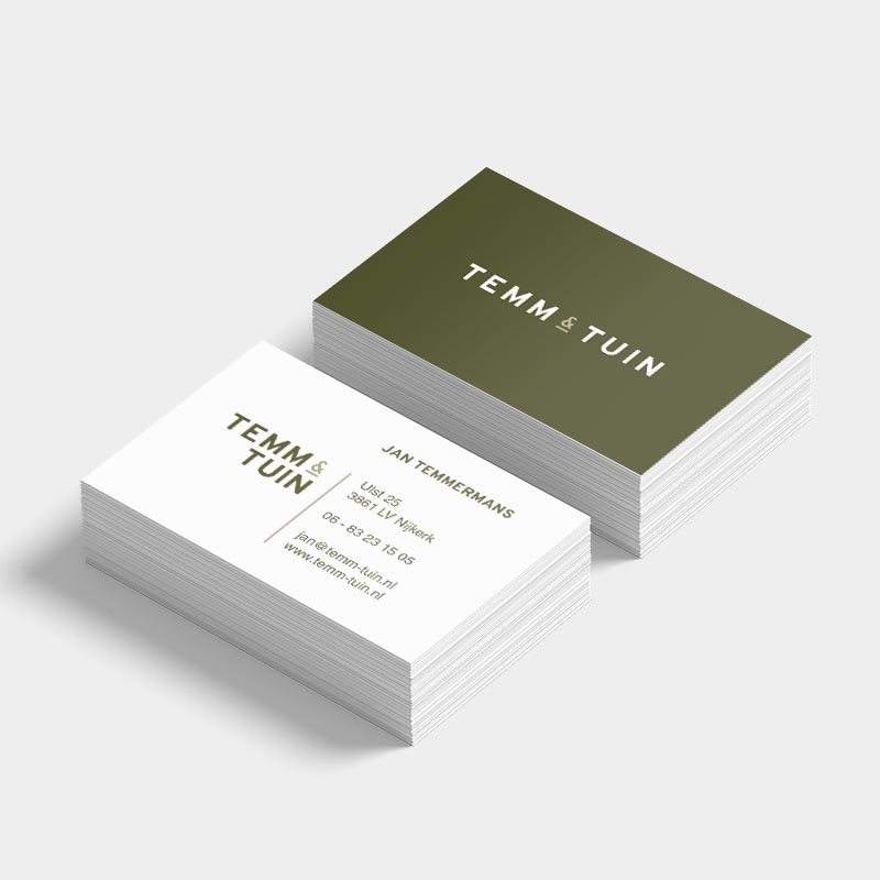 Visitekaart TEMM & TUIN